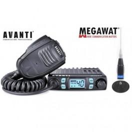 Pachet statie CB Avanti Micro si antena Megawat ML145 cu magnet