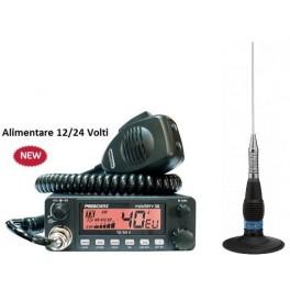 Pachet Statie CB President Harry III ASC 12/24V cu antena President ML145 UP cu magnet