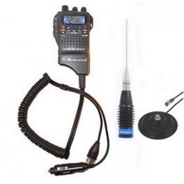 Pachet Statie radio CB Midland ALAN 52 DS Multi cu antena cu magnet 1.5m