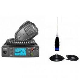 Pachet Statie Radio CB Avanti Delta ASQ cu Antena Megawat ML145