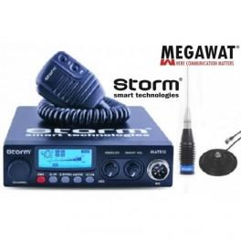 Pachet Statie CB Storm Matrix II ASQ Export cu Antena cu magnet 1.5m